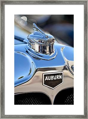 1929 Auburn 8-90 Speedster Hood Ornament Framed Print by Jill Reger