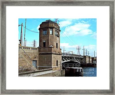 1929 Dix Lift Bridge Framed Print by MJ Olsen