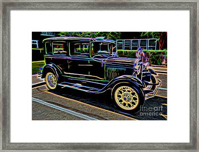1929 Ford Model A - Antique Car Framed Print by Gary Whitton