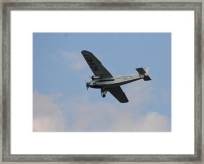 1929 Ford Tri Motor Mail Plane Side Framed Print by David Dunham