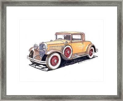 1929 Nash Advanced 6 Sport Framed Print by Jack Pumphrey