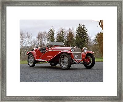 1930 Alfa Romeo Supercharged Tipo Framed Print by Panoramic Images