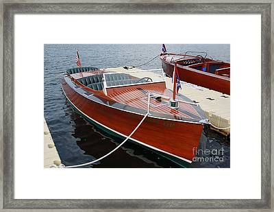 1930 Chris Craft Framed Print by Neil Zimmerman