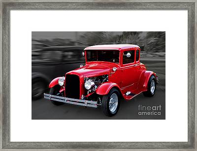 1930 Ford Model A Coupe Framed Print by Gene Healy