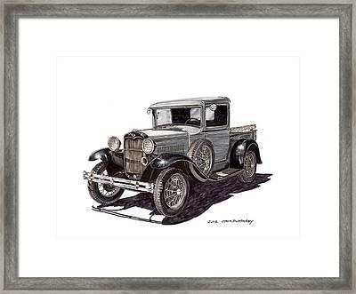 1930 Ford Model A Pick Up Framed Print by Jack Pumphrey