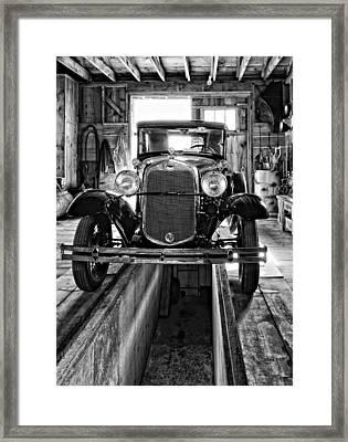 1930 Model T Ford Monochrome Framed Print by Steve Harrington