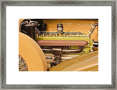 1930 Packard Speedster Runabout Engine -0539c Framed Print by Jill Reger