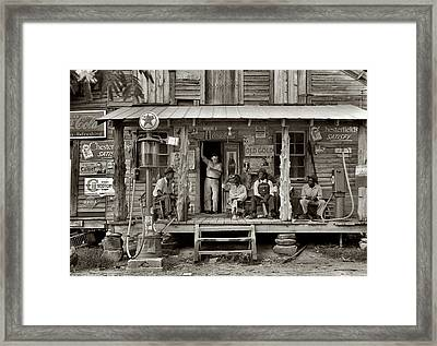 1930's Southern Gas Station Framed Print by Digital Reproductions