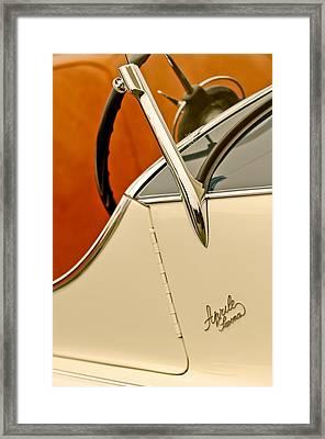 1931 Alfa Romeo 6c 1750 Gran Sport Aprile Spider Corsa Steering Wheel Framed Print by Jill Reger