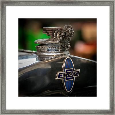 1931 Chevrolet Emblem Framed Print by Paul Freidlund