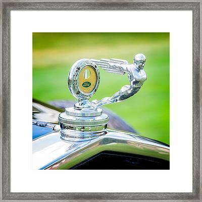 1931 Ford Model A Deluxe Fordor Hood Ornament Framed Print by Sebastian Musial
