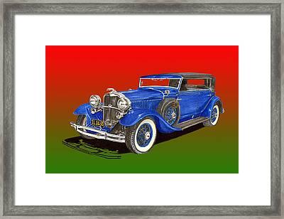 1931 Lincoln K Four Door Convertible Framed Print by Jack Pumphrey
