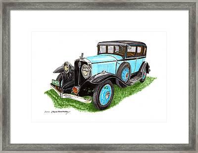 1931 Studebaker President Framed Print by Jack Pumphrey