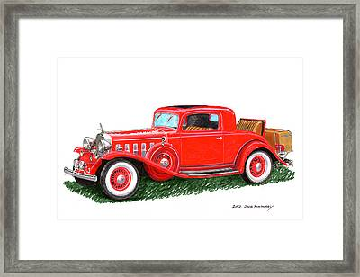 1932 Cadillac Rumbleseat Coupe Framed Print by Jack Pumphrey