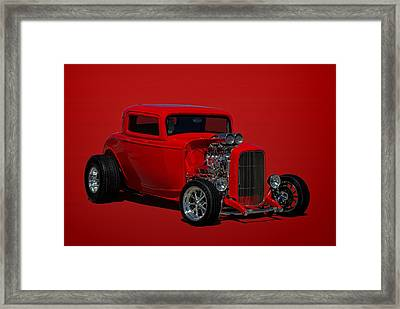 1932 Ford 3 Window Hot Rod Framed Print by Tim McCullough