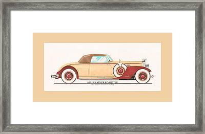 1932 Packard All Weather Roadster By Dietrich Concept Framed Print by Jack Pumphrey