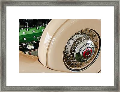 1932 Packard Dual Cowl Phaeton Engine - Spare Tire Framed Print by Jill Reger