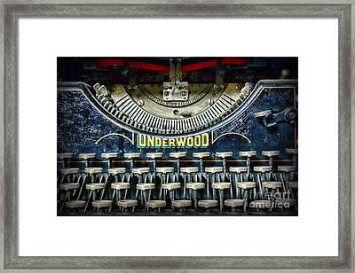 1932 Underwood Typewriter Framed Print by Paul Ward