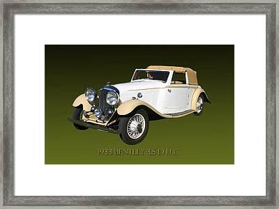1933 Bentley 3  5  Liter Drop Head Coupe Framed Print by Jack Pumphrey