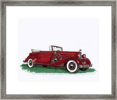 1933 Cadillac Convert Victoria Framed Print by Jack Pumphrey