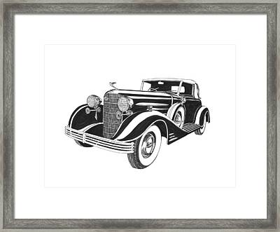 1933 Cadillac Victoria V 16 Convertible Framed Print by Jack Pumphrey
