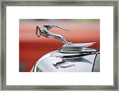 1933 Chrysler Cl Imperial Custom Dual Windshield Phaeton Hood Ornament Framed Print by Jill Reger
