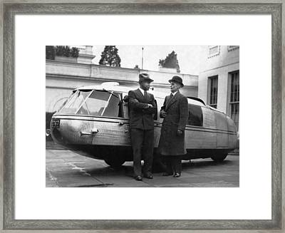 1933 Dymaxion Car Framed Print by Underwood Archives