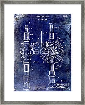 1933 Fishing Reel Patent Drawing Framed Print by Jon Neidert