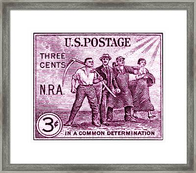 1933 National Recovery Act Stamp Framed Print by Historic Image