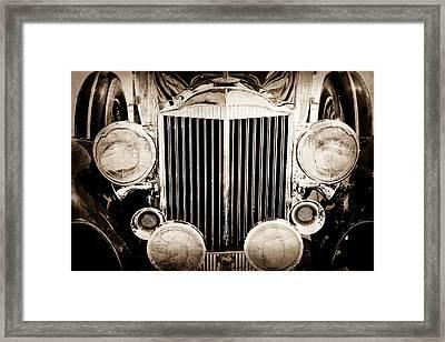 1933 Packard 12 Convertible Coupe Classic Car Framed Print by Jill Reger