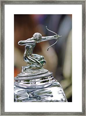 1933 Pierce-arrow 1236 2-door Convertible Coupe Hood Ornament Framed Print by Jill Reger