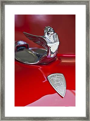 1933 Plymouth Hood Ornament Framed Print by Jill Reger
