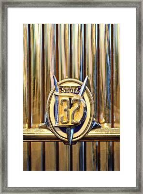 1933 Stutz Dv-32 Five Passenger Sedan Emblem Framed Print by Jill Reger