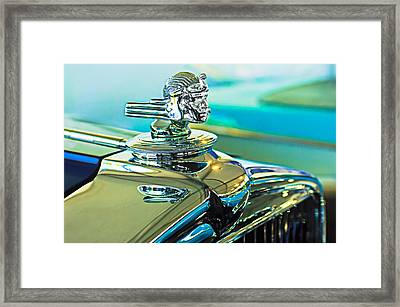 1933 Stutz Dv-32 Hood Ornament Framed Print by Jill Reger