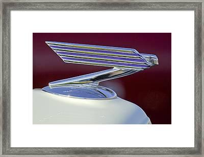 1934 Chevrolet Hood Ornament Framed Print by Jill Reger