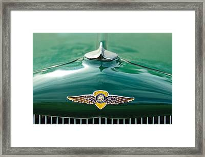 1934 Dodge Hood Ornament Emblem Framed Print by Jill Reger