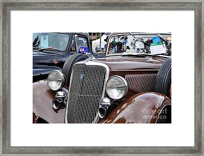 1934 Ford 6 Wheel Equip Front End Framed Print by Kaye Menner