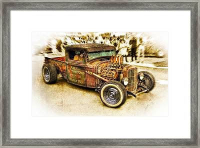 1934 Ford Rusty Rod Framed Print by motography aka Phil Clark