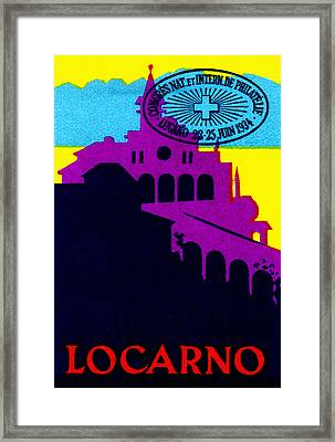 1934 Locarno Switzerland Framed Print by Historic Image