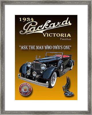1934 Packard Framed Print by Jack Pumphrey