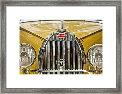 1935 Bugatti Type 57 Roadster Grille Framed Print by Jill Reger