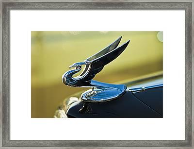 1935 Chevrolet Sedan Hood Ornament 2 Framed Print by Jill Reger