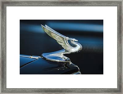 1935 Chevrolet Sedan Hood Ornament Framed Print by Jill Reger