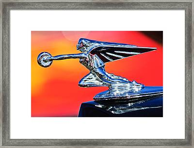 1935 Packard Hood Ornament -0295c Framed Print by Jill Reger