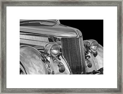 1936 Ford - Stainless Steel Body Framed Print by Jill Reger