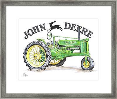 1936 John Deere Framed Print by Shannon Watts