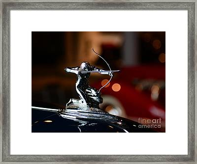 1936 Pierce Arrow Hood Ornament Framed Print by Paul Ward