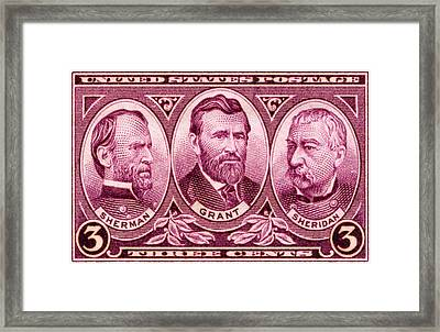 1937 Army Commemorative Stamp Framed Print by Historic Image