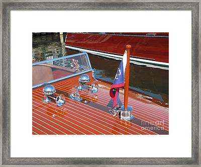 1937 Chris Craft Runabout Framed Print by Neil Zimmerman