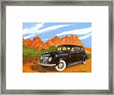 1937 Chrysler Airfow Framed Print by Jack Pumphrey